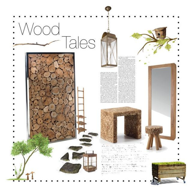 """#Wood Tales"" by viadurini ❤ liked on Polyvore featuring interior, interiors, interior design, home, home decor and interior decorating"