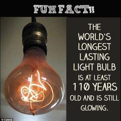 Did you know? The world's longest lasting light bulb is located in ...:The world's longest lasting light bulb is located in Livermore, California,Lighting