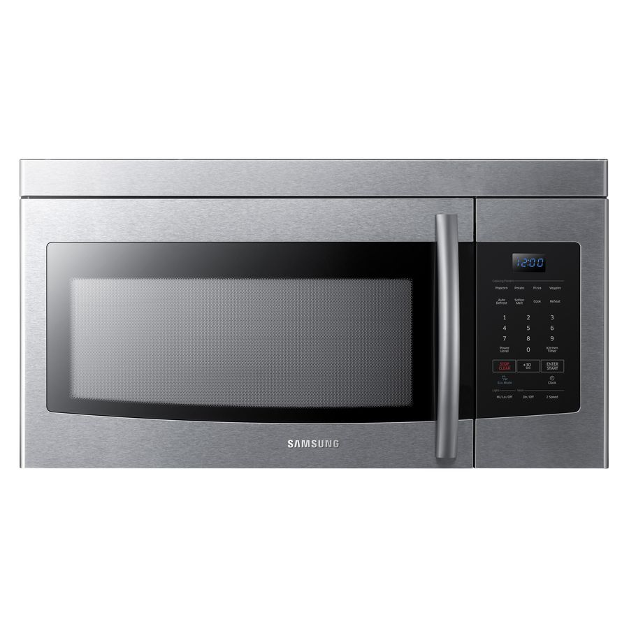 Samsung 1 6 Cu Ft Over The Range Microwave Stainless Steel Common 30 In Actual 29 875 With Images Over The Range Microwaves Range Microwave Stainless Steel Microwave