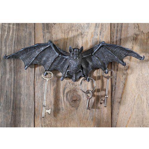Design Toscano Vampire Bat Key Holder Wall Sculpture in Gray Stone - halloween decorations at walmart