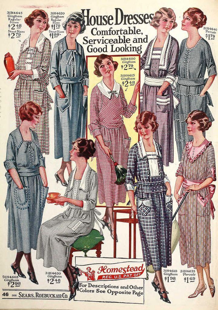 House dresses, Sears Catalogue 1922 | Failure: A Love Story ...