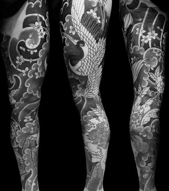 40 Japanese Crane Tattoo Designs For Men Bird Ink Ideas In 2020 Foo Dog Tattoo Design Tattoo Designs Men Crane Tattoo