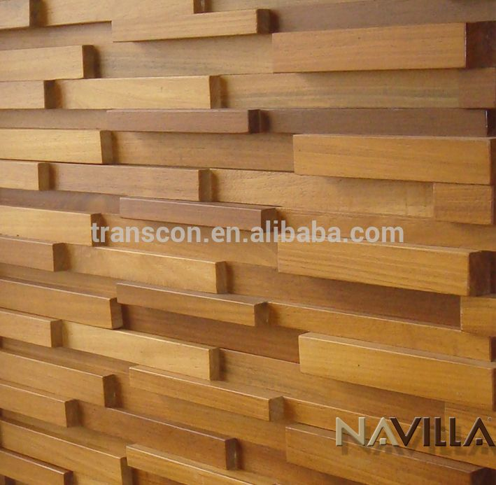 Barato 3d decorativo de madera s lida hoja de panel de for Panel decorativo madera para pared