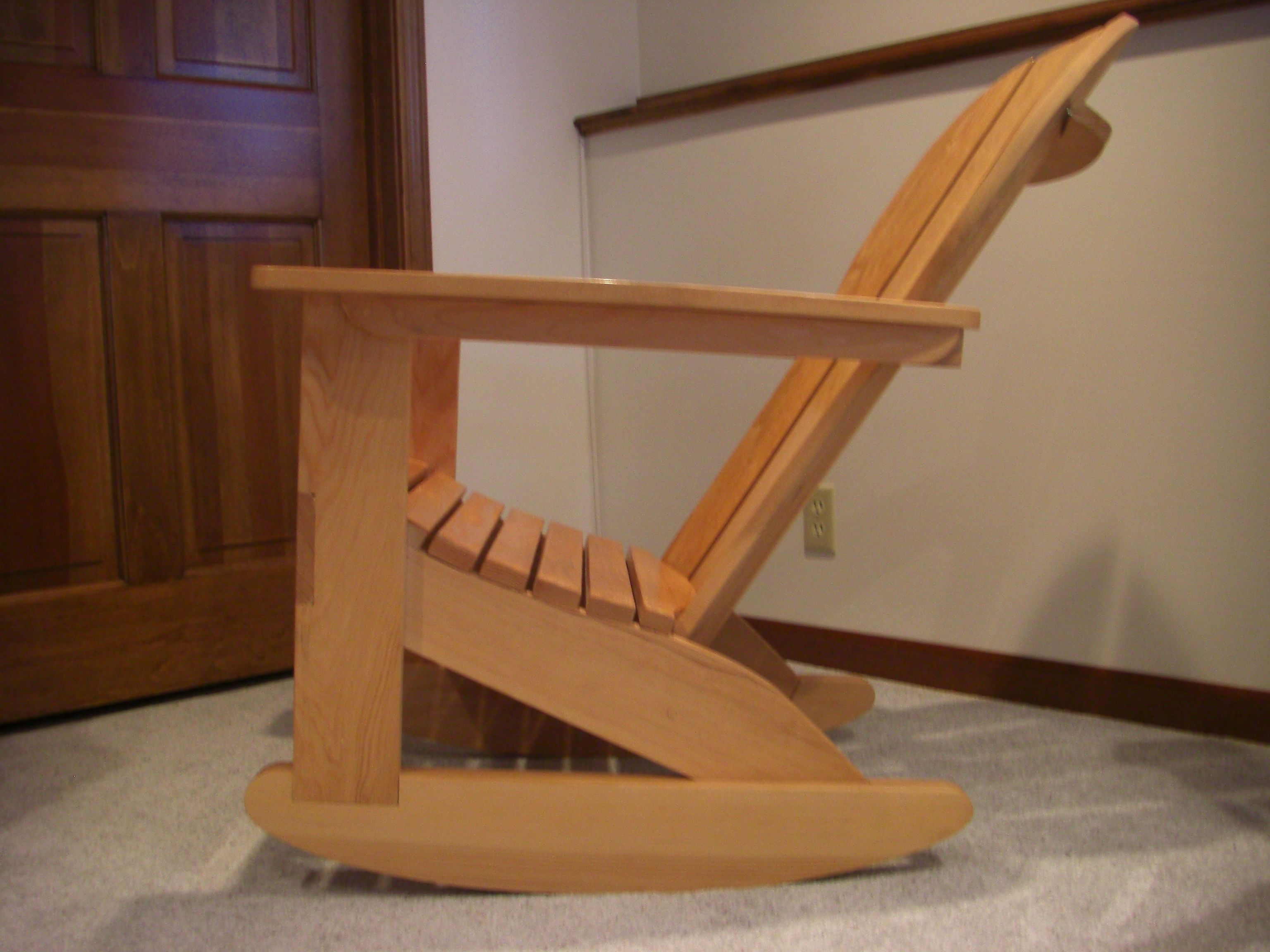 Cedar Adirondack rocking chair. Should really make another one.