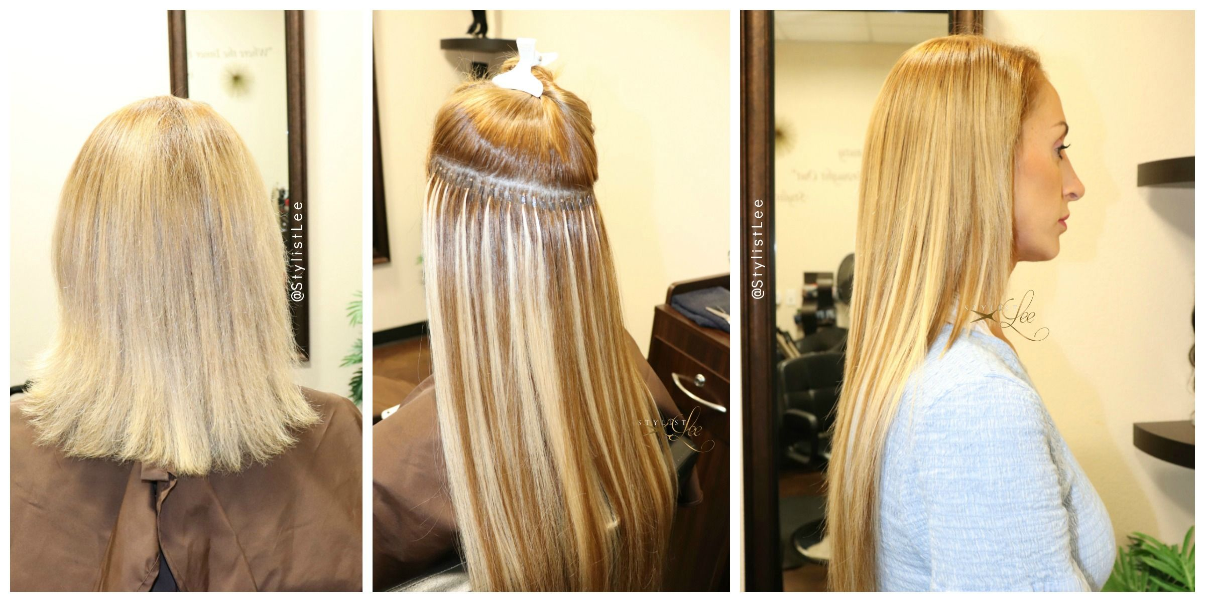 Microlinks hair extensions. This service requires a in