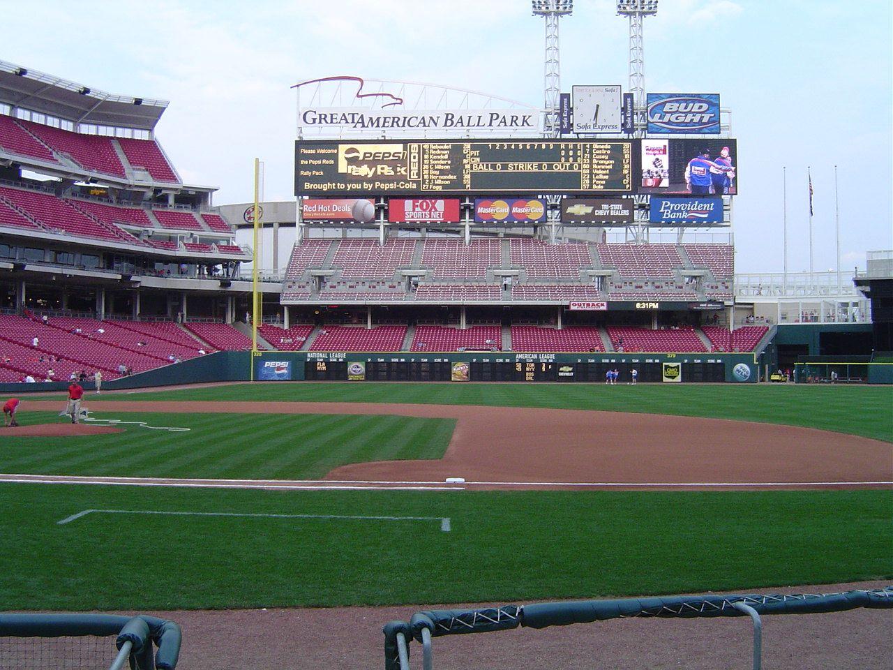 Ball Park Baseball Field Stadium Cincinnati