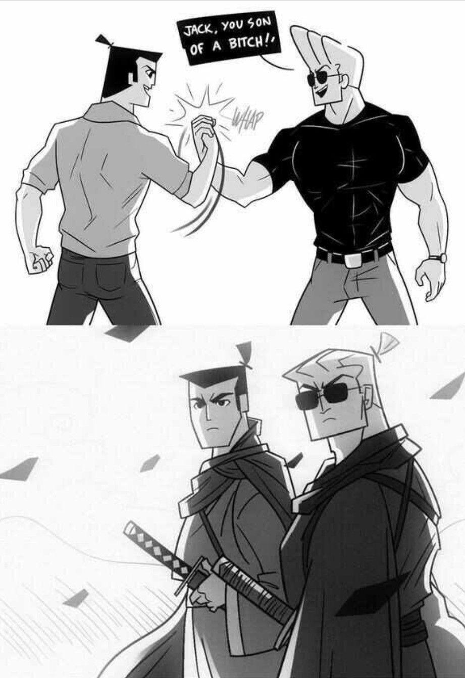 Johnny Bravo And Samurai Jack Old Cartoon Shows Cartoon Crossovers Samurai Jack