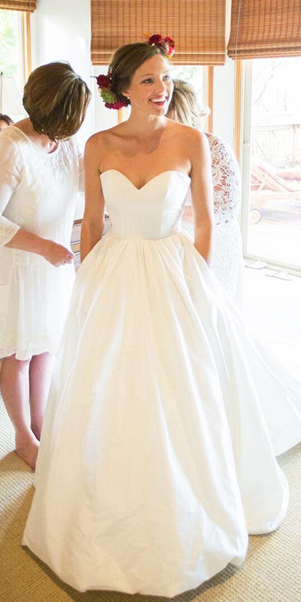 36 Gorgeous A Line Wedding Dresses | Wedding dress, Weddings and Satin