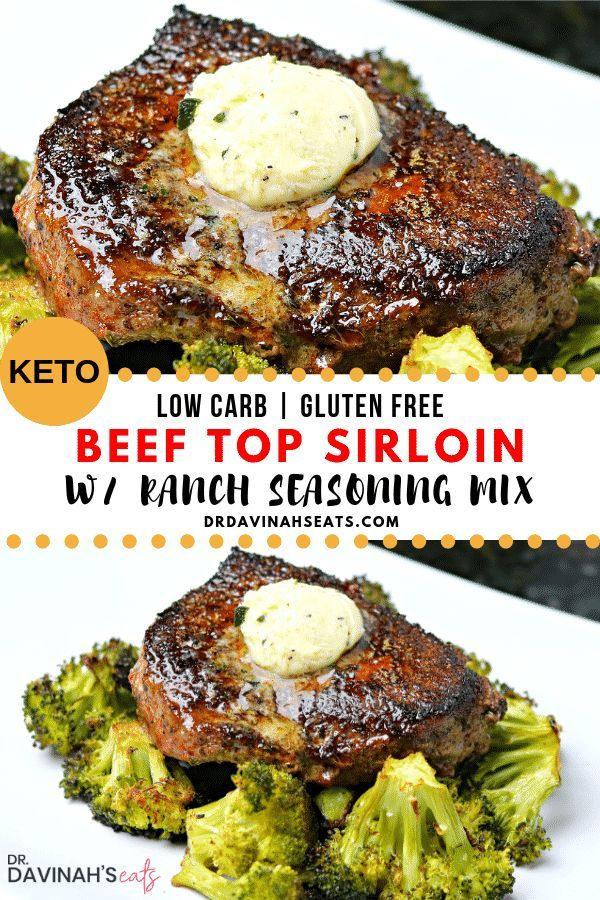 Easy Beef Top Sirloin Steak recipe with Ranch Dressing Mix images