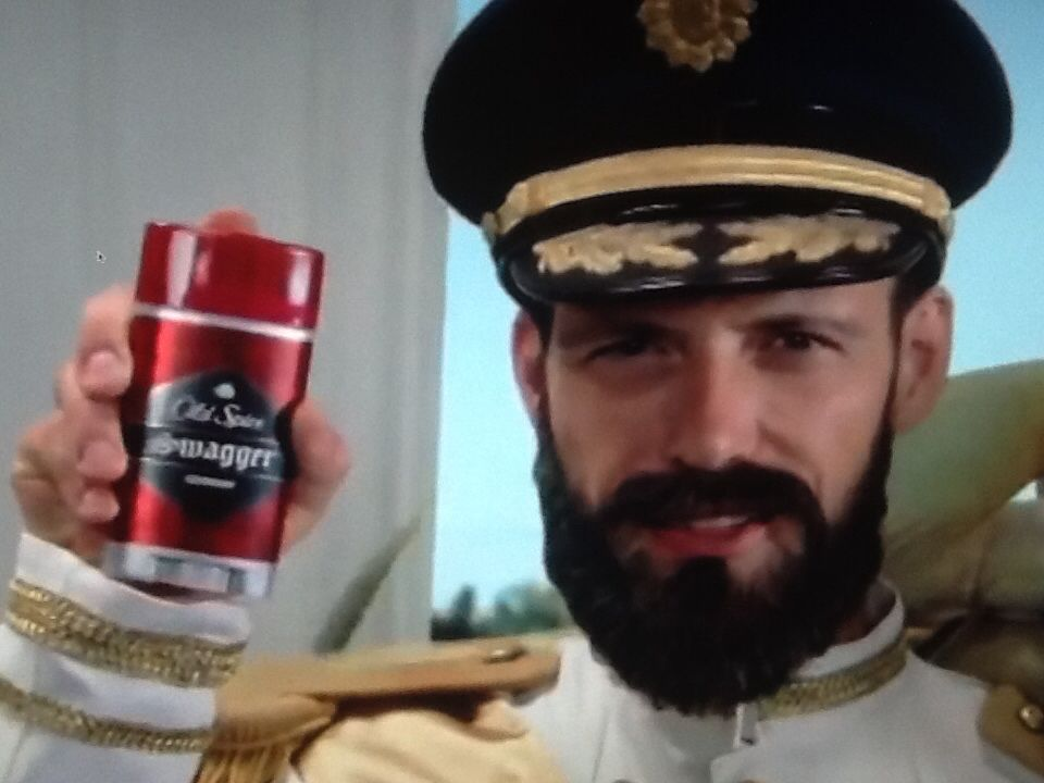 Old Spice. (Fake beard.) | Beards in TV ads. | Fake beards ... Old Man Fake Beard