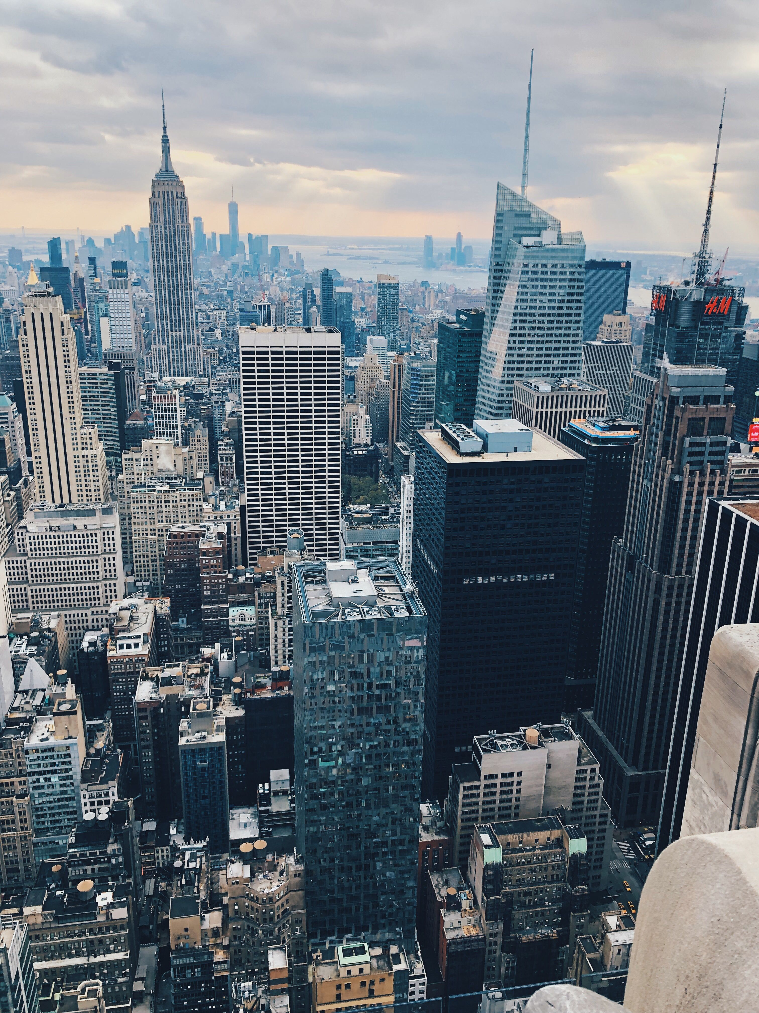 Nyc Newyork City Skyline Skyscraper Empirestatebuilding Blue Vsco Trip Vacation Vsco Pictures Nyc Skyline Nyc Trip