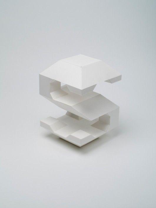 Barcelona Studio Lo Siento built a 4D typeface out of paper shapes. Via Newgrids.