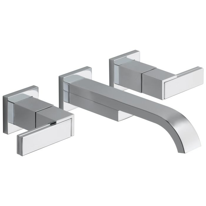 Brizo Siderna Series Two Handle Wall-Mount Bathroom Faucet on Faucet ...