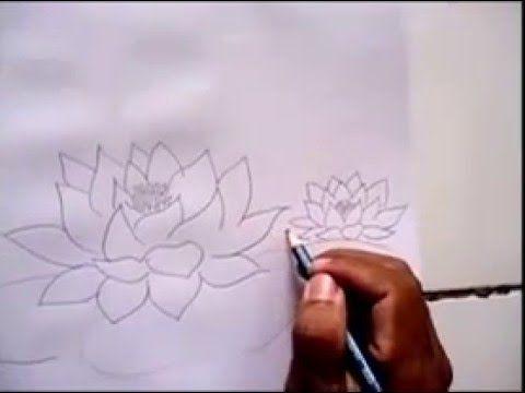 Cara Mudah Menggambar Bunga Teratai Gambar Bunga Mudah Bunga Teratai Gambar Bunga