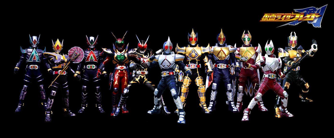 Kamen Rider Blade All Form By Playwithkor Deviantart Com On Deviantart Kamen Rider Rider Kamen