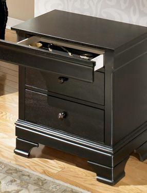 Nightstand With Locking Secret Hidden Drawer