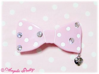 Fantastic Ribbon Barrette (Pink)