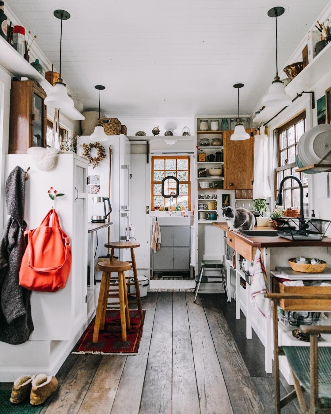 On Our Instagram Story Today We Re Taking A Peek Inside This 160 Square Foot Custom Built Tiny Home Tiny House Interior Tiny House Kitchen Tiny House Design