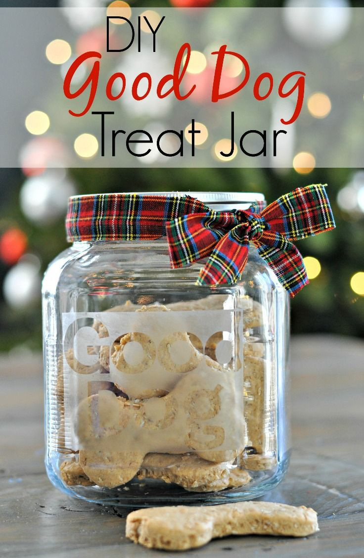 Diy Good Dog Treat Jar Easy And Inexpensive Gift For Your