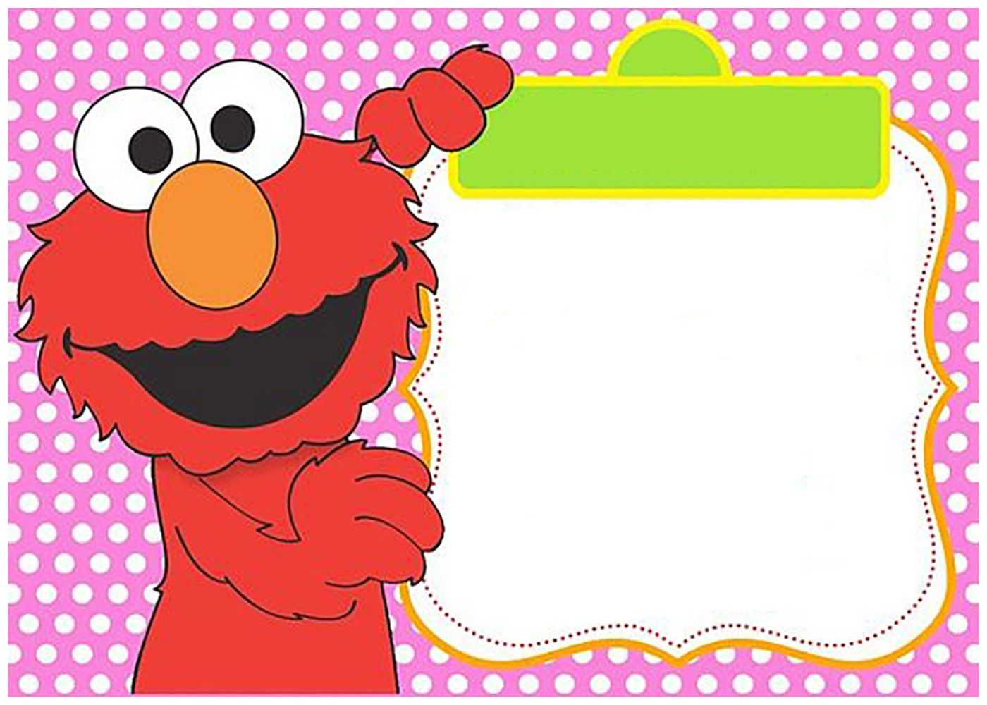 pink elmo invitation template for girls