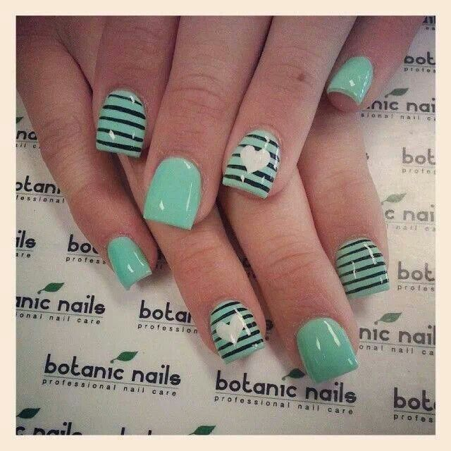 Nail Art Design Mint Green Crossfithpu