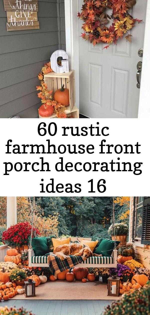 60 rustic farmhouse front porch decorating ideas 16 #falldecorideasfortheporch