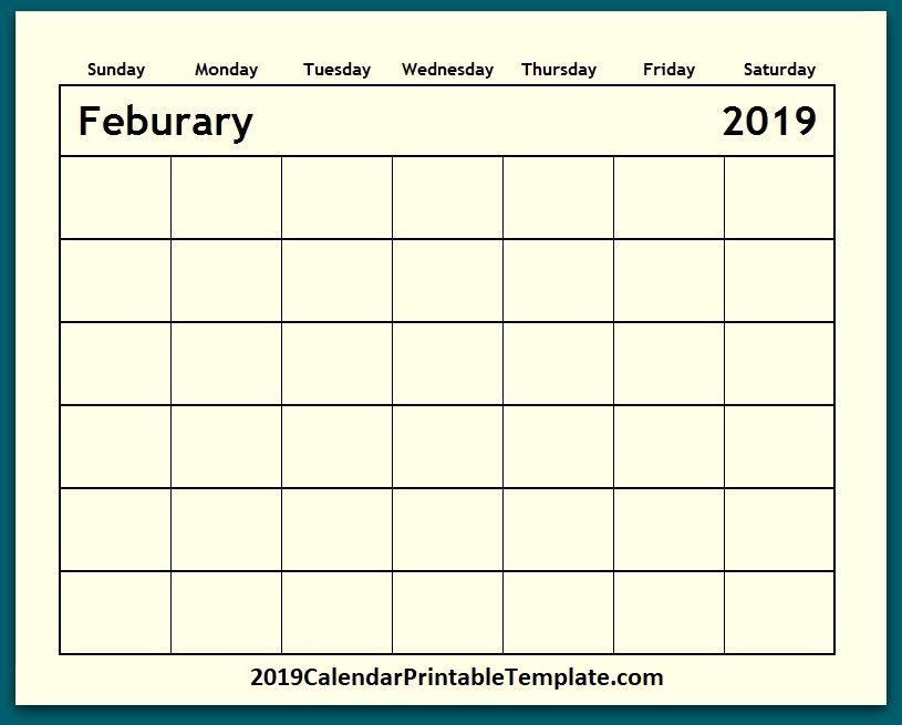 Pin by 2019Calendarprintabletemplate on Blank Calendar 2019 in 2018