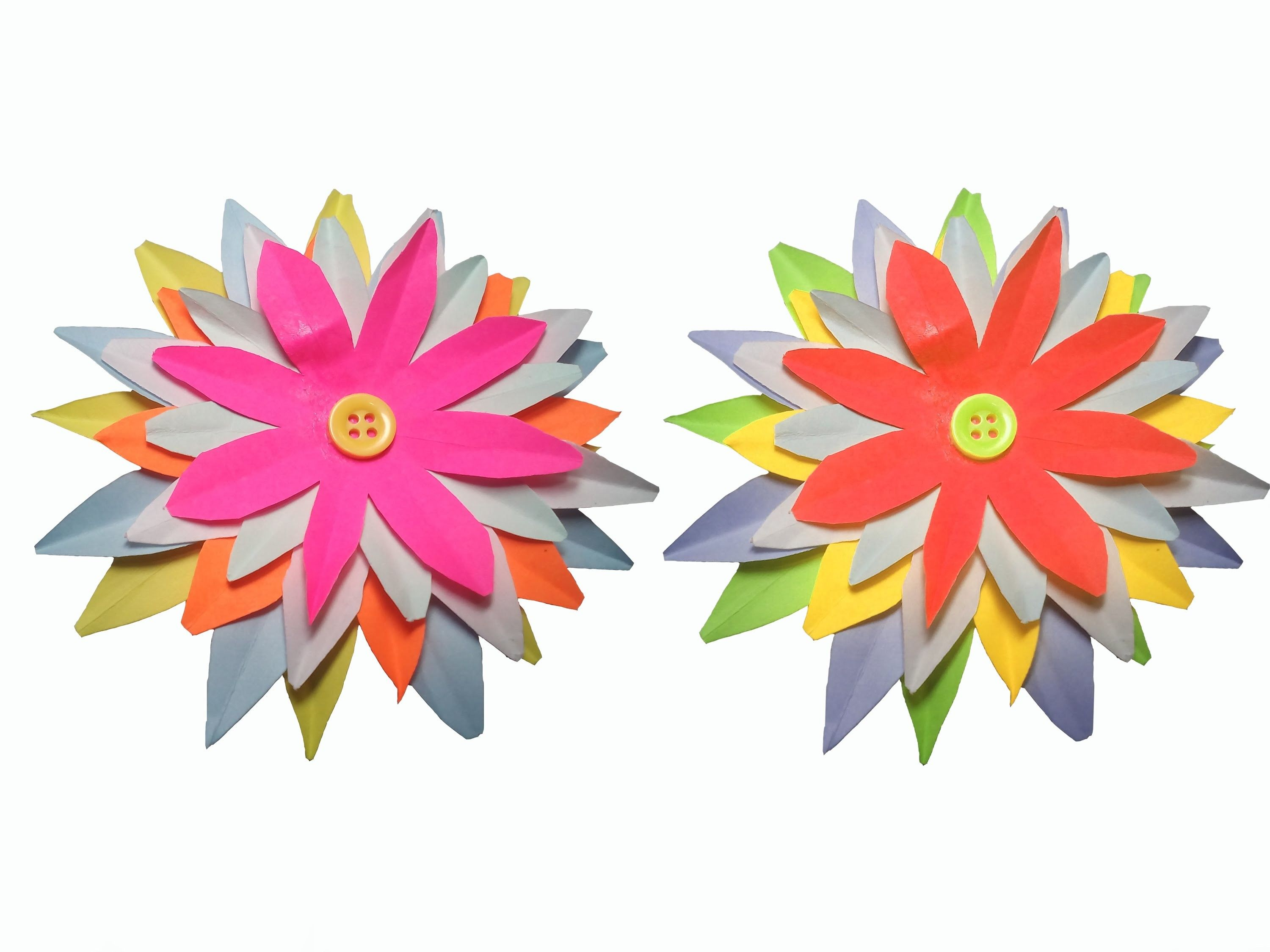 How to make Paper Flower  very easy   DIY Craft  Papercraft