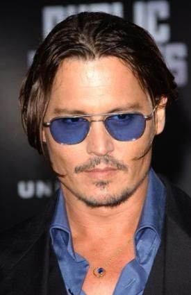 f34dc6db448fd Johnny Depp is well known for his blue sunglasses - he sports several  different styles and brands
