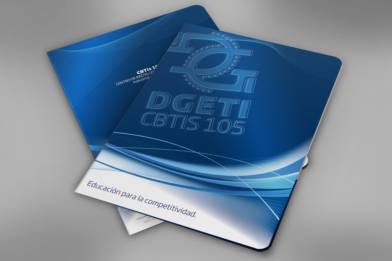 Folder Institucional. Cliente: CBTis 105 Altamira. #portafolio3dmentes