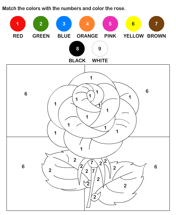 Valentines Color By Number - Best Coloring Pages For Kids Color Worksheets,  Coloring Pages, Preschool Worksheets