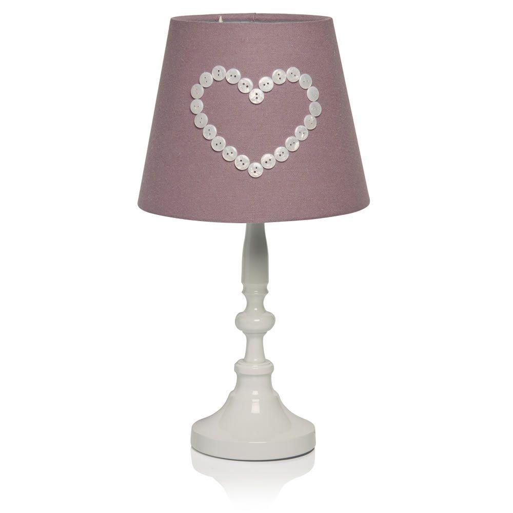 Wilko button heart lamp mauve des lumires pinterest mauve wilko button heart lamp mauve aloadofball Image collections