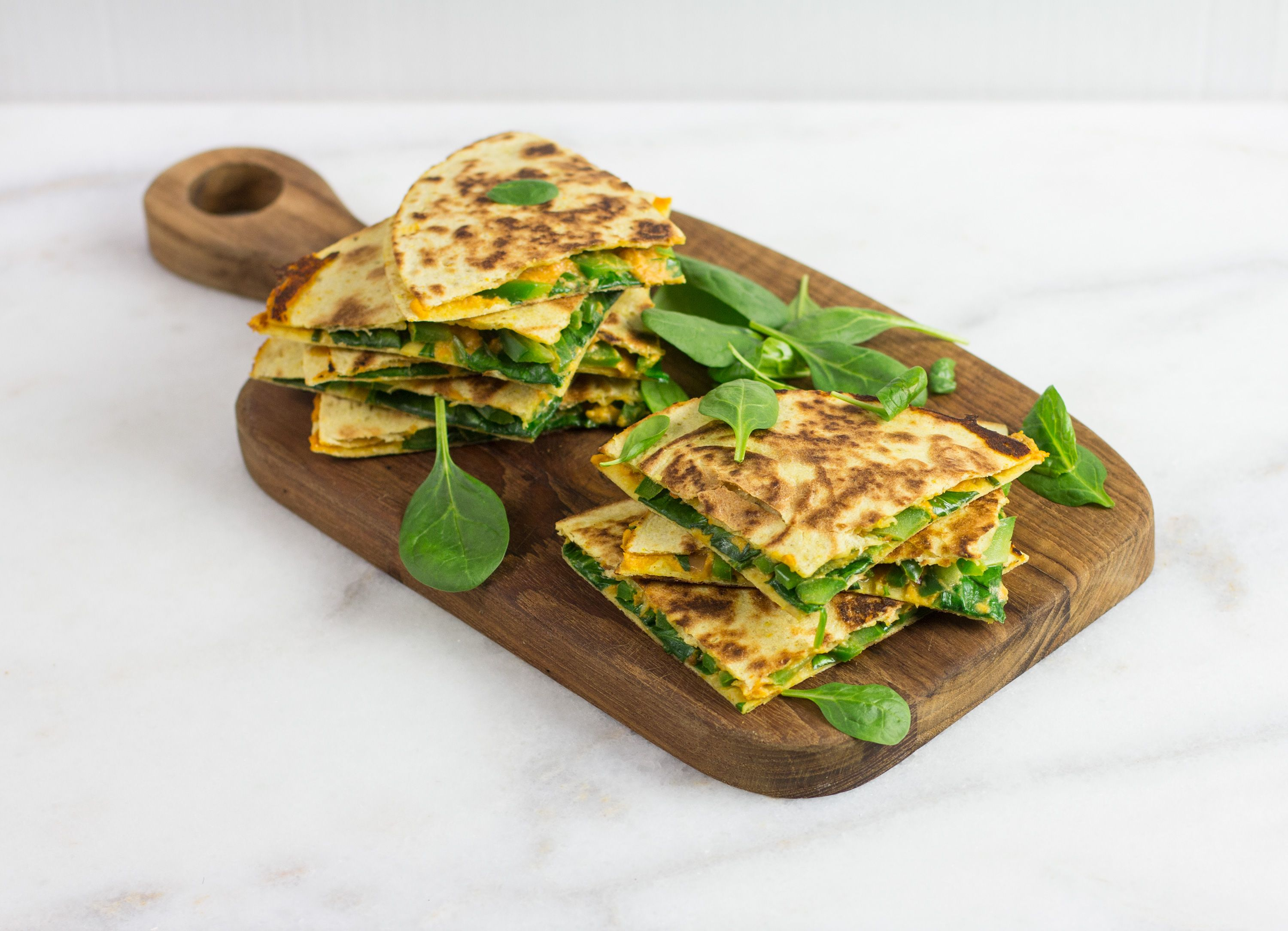 Lighter: Fiesta Hummus Quesadilla