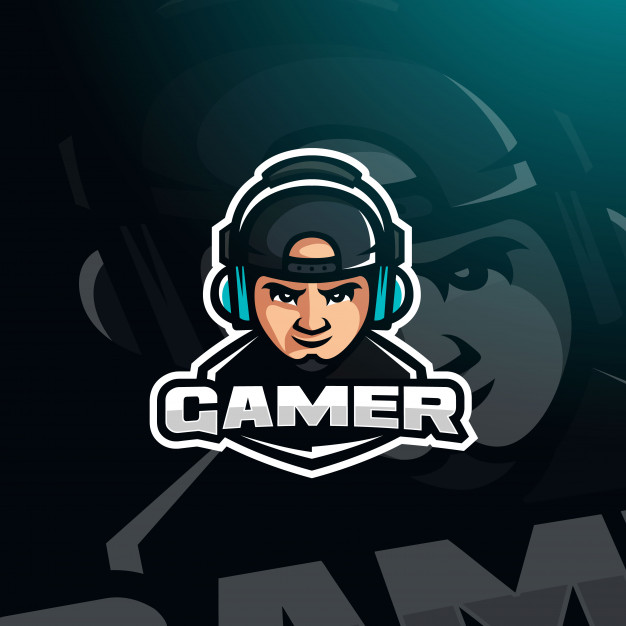 Gamer Youtuber Gaming Avatar With Headphones For Esport