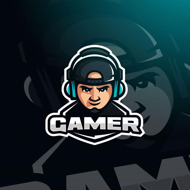 Gamer Youtuber Gaming Avatar With Headphones For Esport Logo Logo Design Art Cartoon Logo Gaming Wallpapers