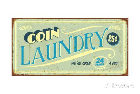 Retro Laundry Signs Alluring Vintage Retro Laundry Room Decor  Google Search  Laundromat Inspiration