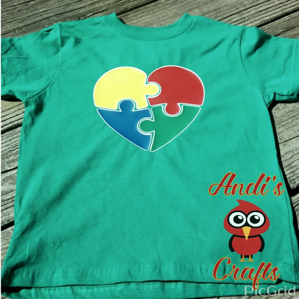 Autism Puzzle Shirt by AndisCraftsOnline on Etsy