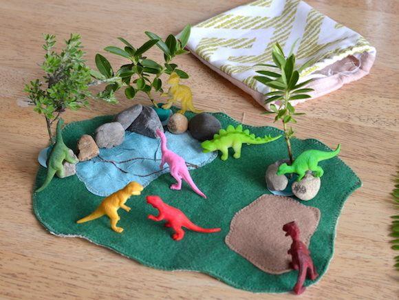 Easy Diy Dinosaur Play Mat Toy Play Mat Diy Felting Projects Felt Diy