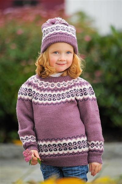 DG207 10 Genser, jakke & lue barn 4 12 år – Dale Garn | Klær