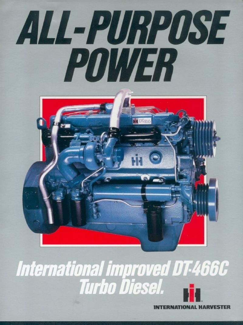 IH DT-466 pour camions australiens International Tractors, International  Harvester, Diesel Engine,