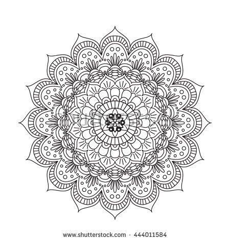 Coloring Book Mandala Circle Lace Ornament Round Ornamental Mandala Pattern Black And White Design Mandala Coloring Pages Coloring Pages Coloring Pictures