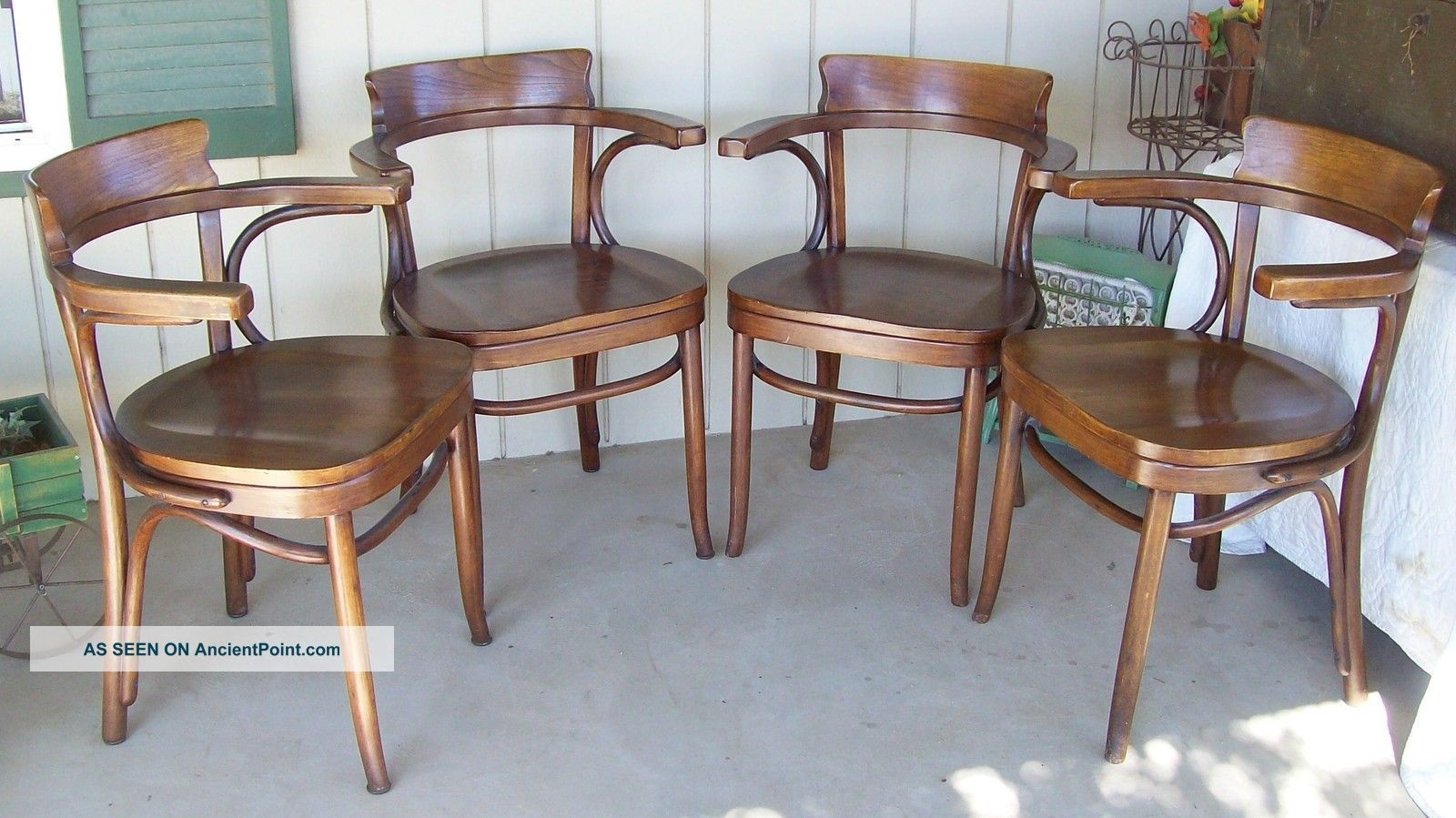 vintage bentwood chairs perfect sleep chair recliner thonet kohn mundus 1922 matched set of 4 1900 1950 photo