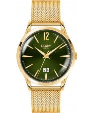Mens Henry London Mens Chiswick Moss Hamilton Gold Plated Bracelet Watch 79.99 Watches2U
