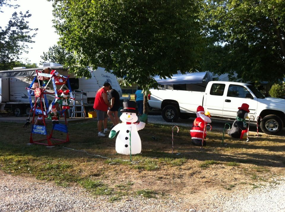 Camping Christmas In July Ideas.Christmas In July Best Decorated Campsite Contests Our