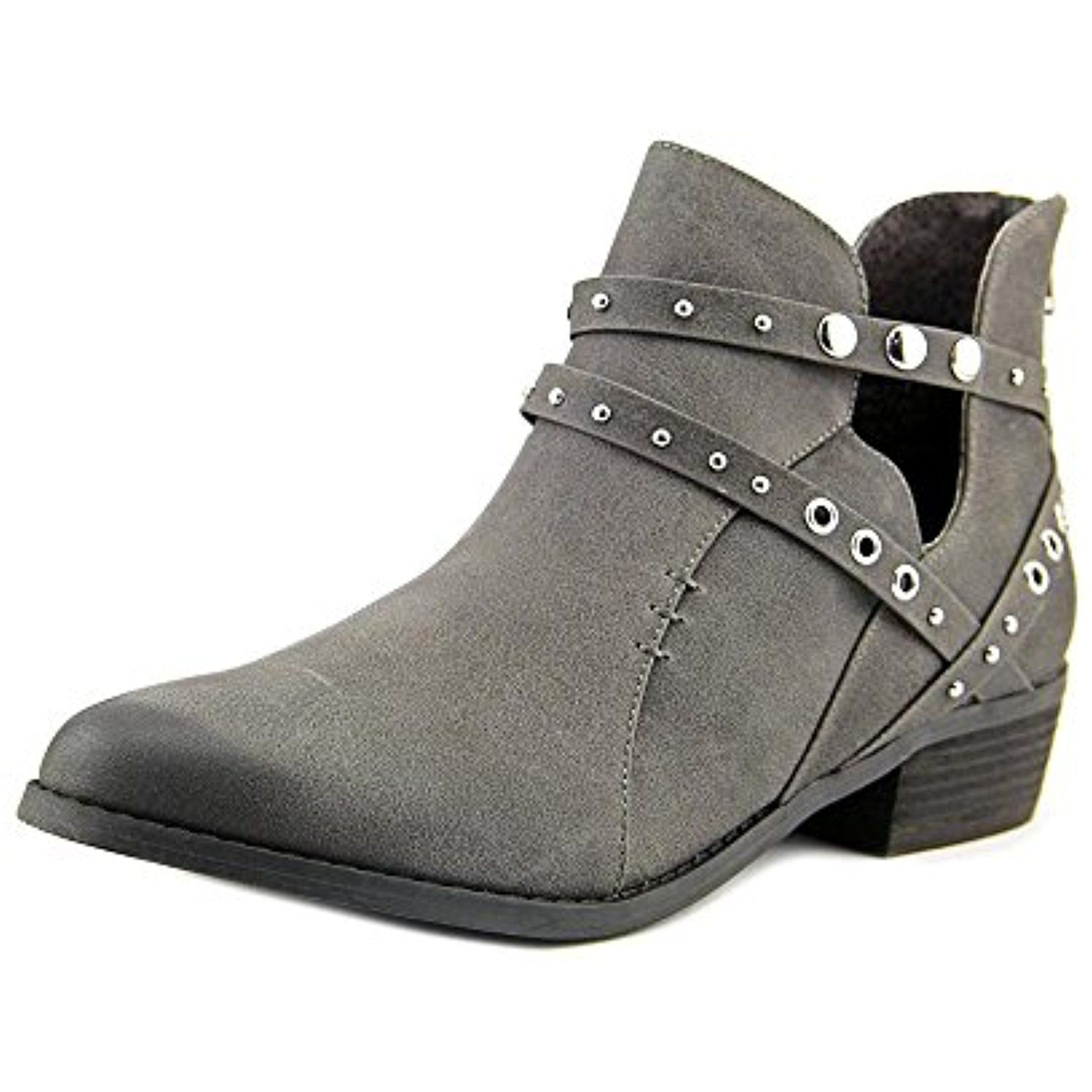 Takayama Women Round Toe Synthetic Gray Bootie