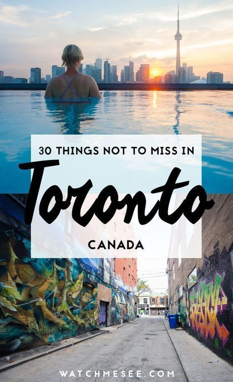 Here are all the coolest and best things to do in Toronto, Canada! #toronto #canada #thingstodointoronto #canadatravel #citytravel