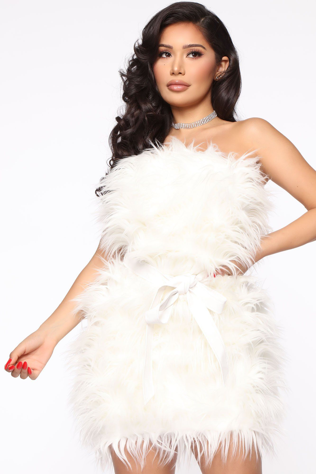 Keeping It Fur Real Mini Dress White in 2020 Mini