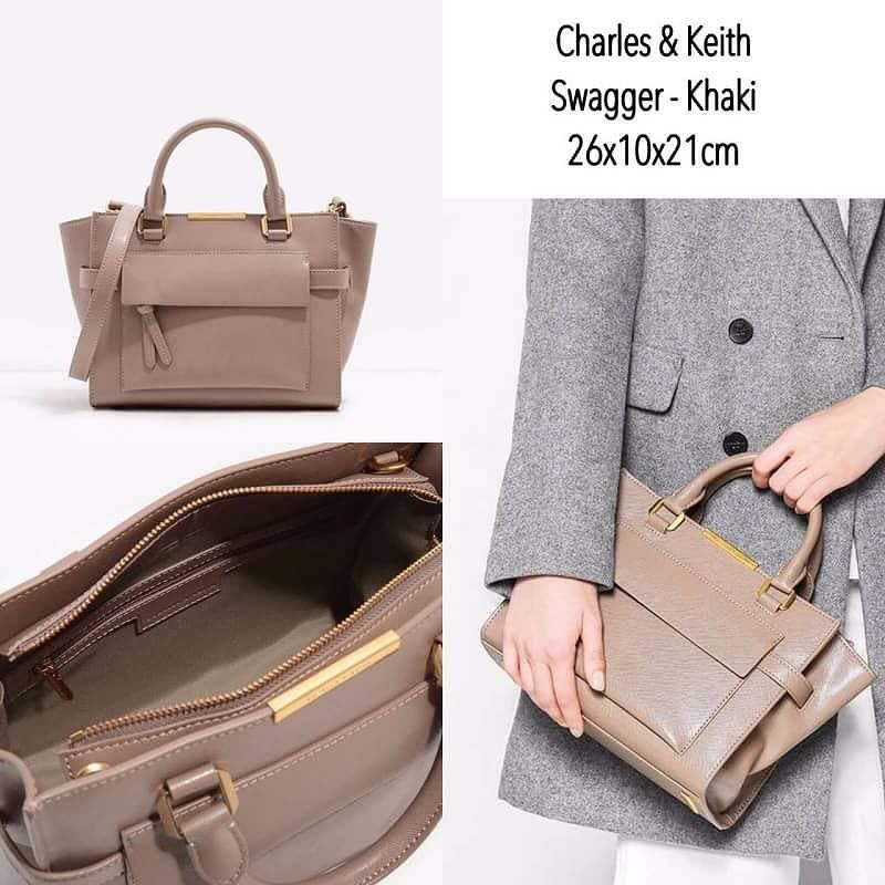Best Seller Items Charles   Keith Swagger Sdh ready semua warna yaKhaki    Pink   Black 959a33e64f