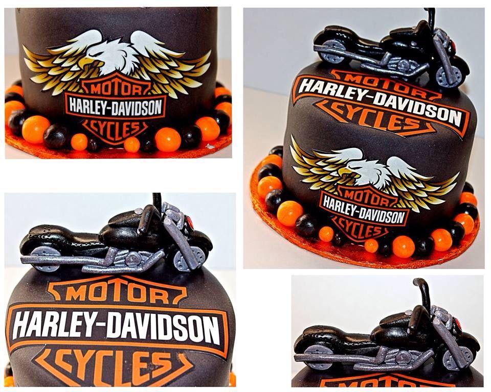 Collage of harley davidson cake i made cupcake cakes