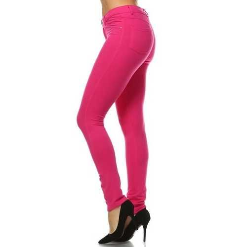 Photo of Women's French Terry Jeggings – FUCHSIA 6 / X-LARGE